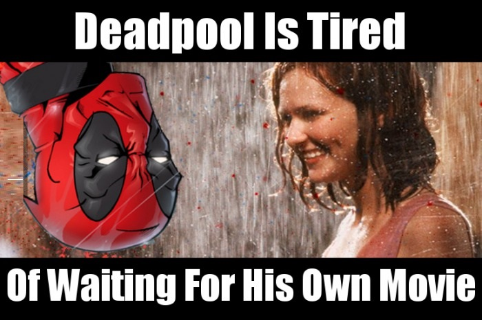 deadpool waiting for his own movie