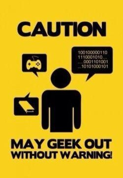 geek caution