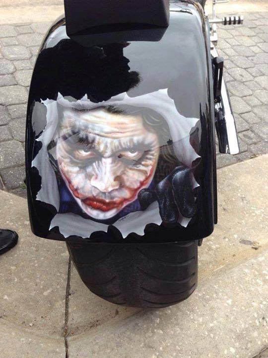 joker motorcycle paint